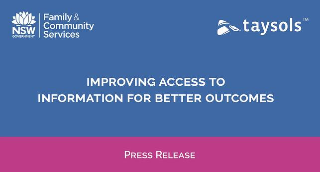 NSW Department of Communities and Justice partners with Taysols to improve access to information for better outcomes