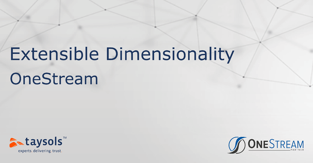 OneStream - Extensible Dimensionality