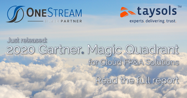 OneStream recognised as a Leader in the 2020 Gartner Magic Quadrant Report for Cloud and FP&A Solutions