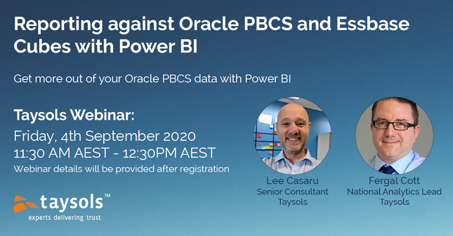 Webinar - Framework - Reporting against Oracle PBCS with Power BI