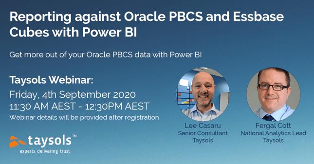 Webinar On Demand - Framework - Reporting against Oracle PBCS with Power BI