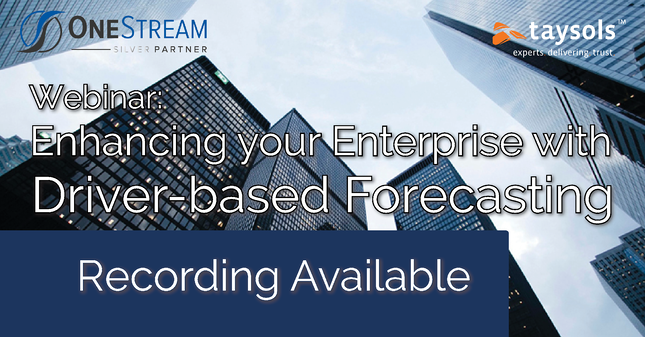 Webinar Replay: Enhancing the Enterprise with Driver-Based Forecasting