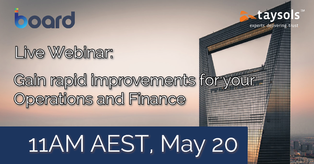 Webinar: How to gain rapid improvements for Operations and Finance