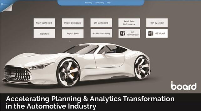 Accelerating Planning & Analytics Transformation in the Automotive Industry